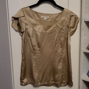Banana Republic Silk Champagne Blouse Small